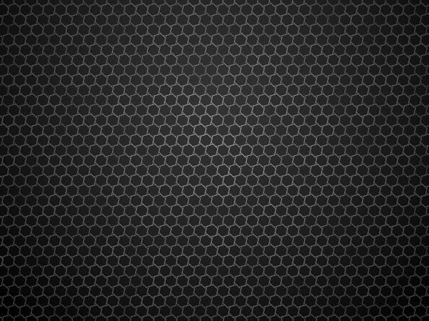 abstract dark geometric hexagon pattern vector art illustration