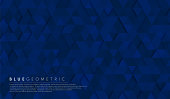 istock Abstract dark navy blue geometric hexagon shape background pattern. Vector for presentation design. Suit for business, corporate, institution, party, festive, seminar, and talks. Vector illustration 1289759117