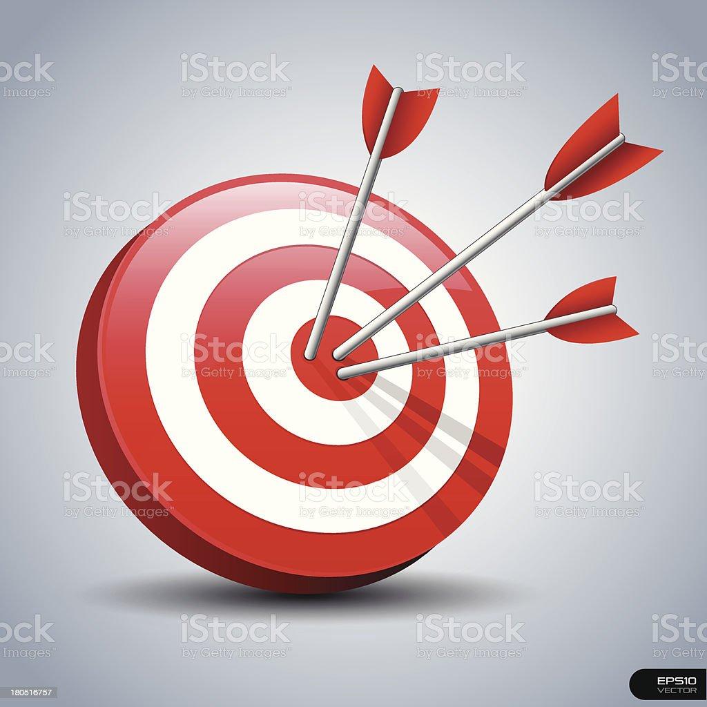 Abstract darts hitting a target royalty-free stock vector art