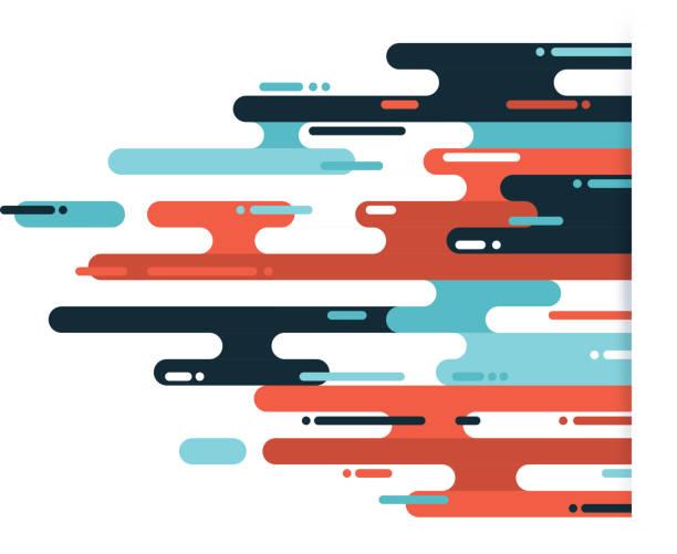 illustrations, cliparts, dessins animés et icônes de fond de couleur abstraite dash - infographie concepts