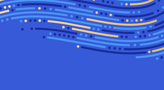 Abstract dash dot line background flow wave pattern.