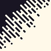 Seamless abstract rounded lines transition background concept.