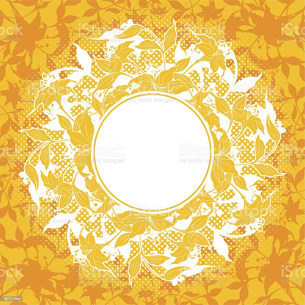 abstract decoration with flower elements, vector illustration royalty-free stock vector art