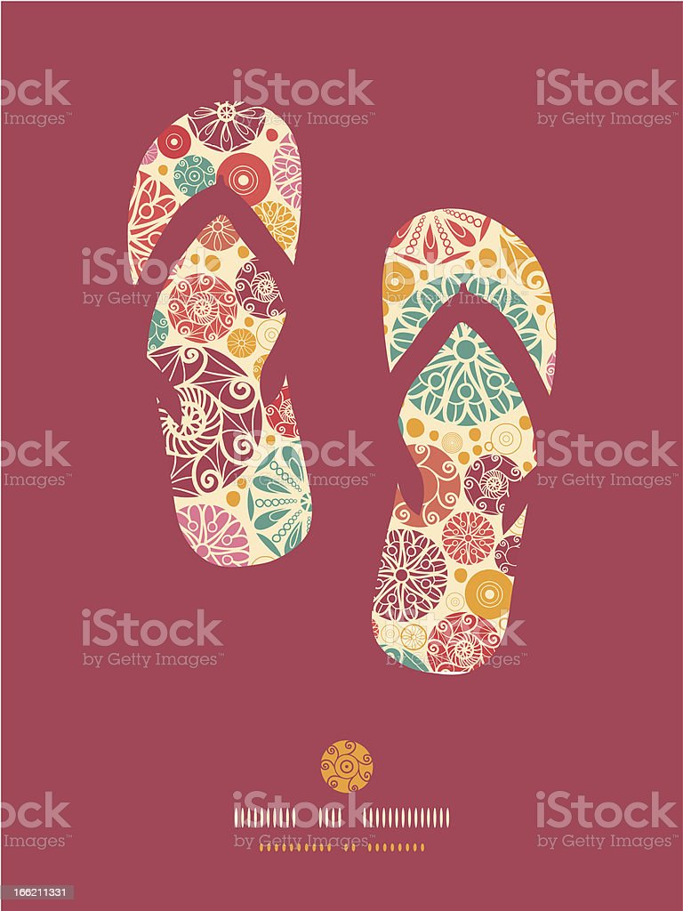 Abstract decorative circles flip flops pattern background royalty-free stock vector art