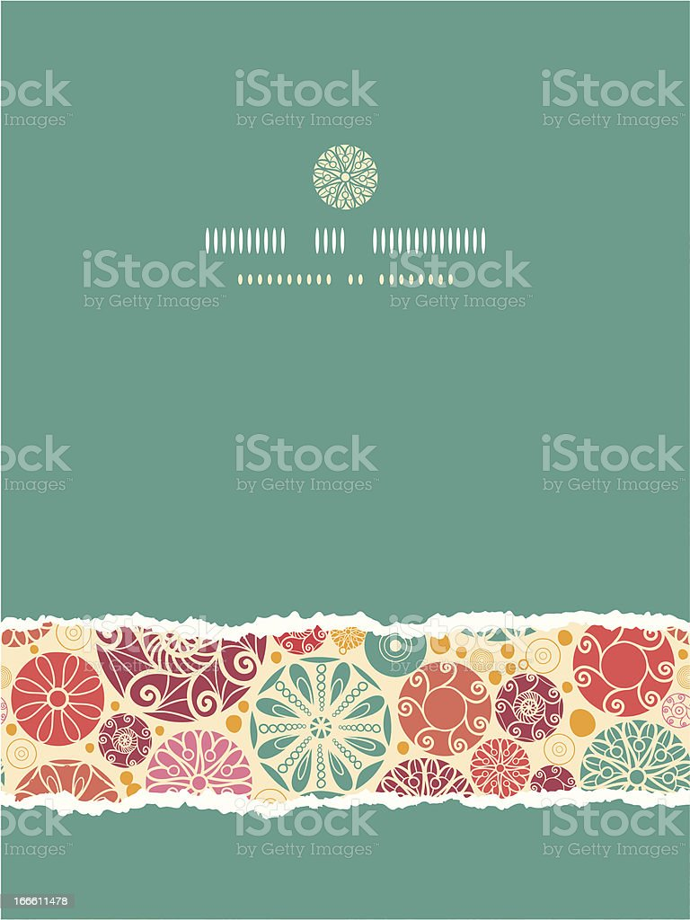 Abstract decorative circles vertical torn seamless pattern background royalty-free stock vector art