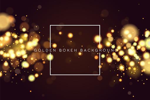 抽象彌散圓形金色散景閃光閃燈背景魔術聖誕背景優雅 閃亮 金屬金色背景eps 10向量圖形及更多光圖片