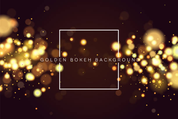 stockillustraties, clipart, cartoons en iconen met abstract intreepupil circulaire gouden bokeh sparkle glitter lichten achtergrond. magische kerst achtergrond. elegante, glanzend, metallic gouden achtergrond. eps 10. - luxe