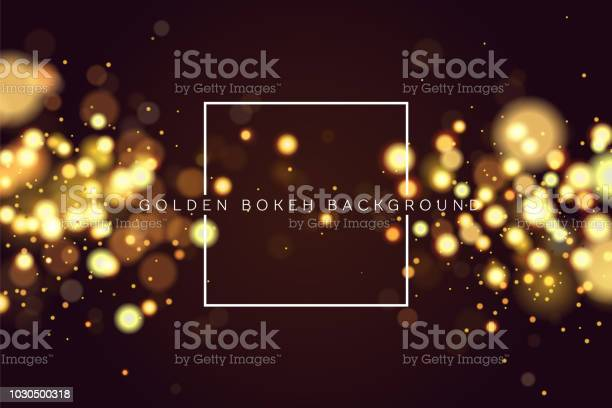 Abstract Defocused Circular Golden Bokeh Sparkle Glitter Lights Background Magic Christmas Background Elegant Shiny Metallic Gold Background Eps 10 Stock Illustration - Download Image Now