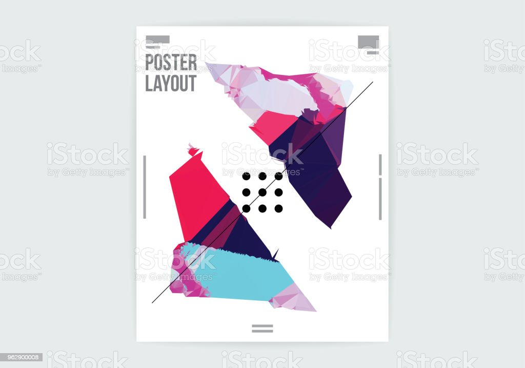 Abstract Deformed Shape Graphic Design Poster Layout Template vector art illustration
