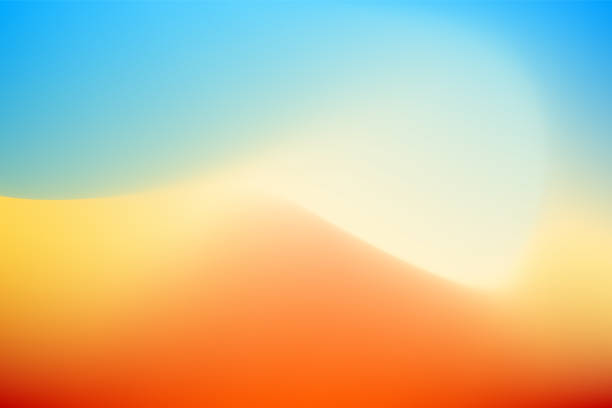 abstract desert background - desert stock illustrations