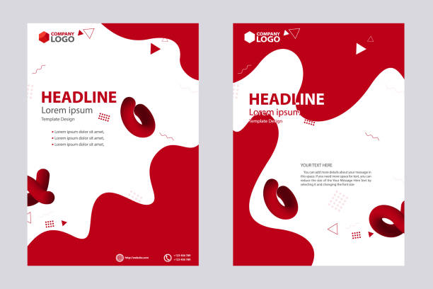 Abstract Design Bi-fold Brochure, Flyer, Poster, Vector Template Design vector art illustration