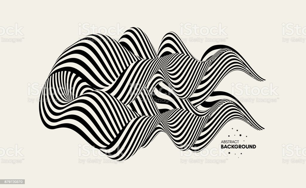 Abstrakt Design-Element. Optische Kunst. Vektor-Illustration. – Vektorgrafik