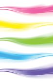 Abstract design element, web wave banner/header (set of 5 in different colors)