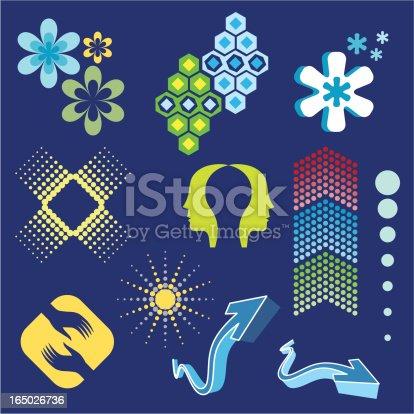 istock Abstract Design Elements 1 - Vector 165026736