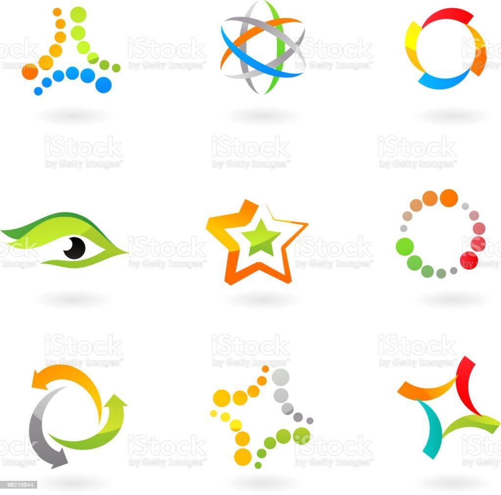 추상적임 디자인 요소 및 아이콘-과학 테마 royalty-free 추상적임 디자인 요소 및 아이콘과학 테마 0명에 대한 스톡 벡터 아트 및 기타 이미지