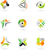 Abstract design elements and icons - sport  theme