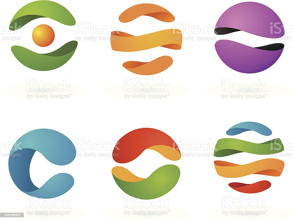 Abstract Design Elements | Spheres #2 vector art illustration