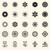 Abstract vector organic and natural looking shapes.