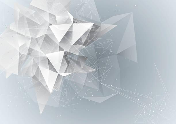 Abstrakt entwurf niedrige Polyester – Vektorgrafik