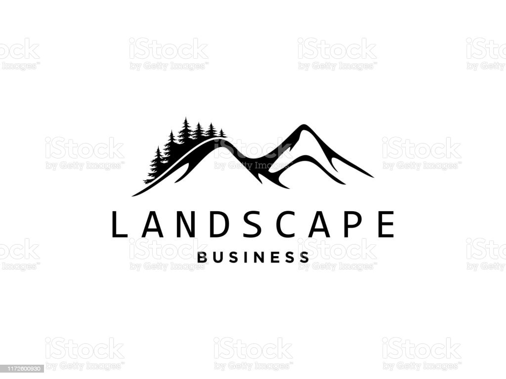 Abstract Design Of Outdoor Logo With Mountain And Nature Mountain