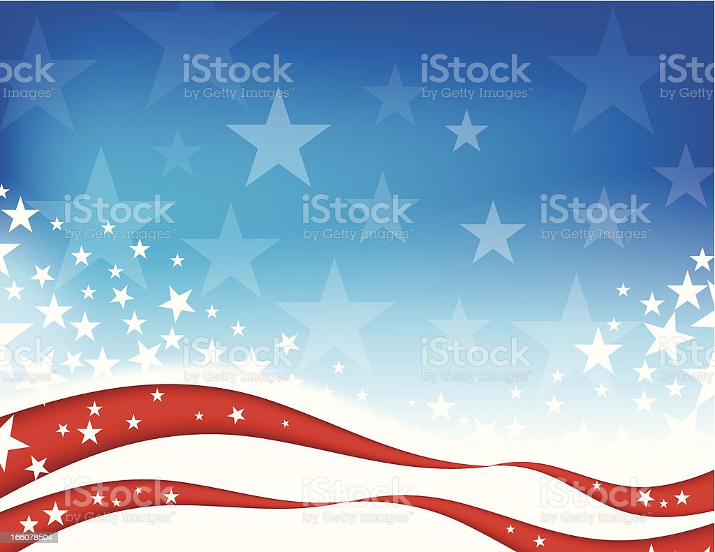 Abstract design of the stars and stripes background royalty-free stock vector art