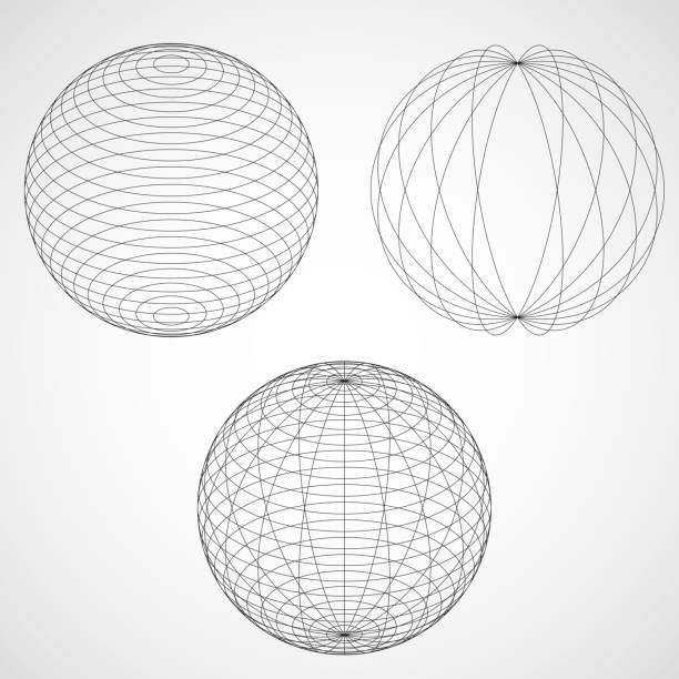 Abstract Design Sphere. vector art illustration