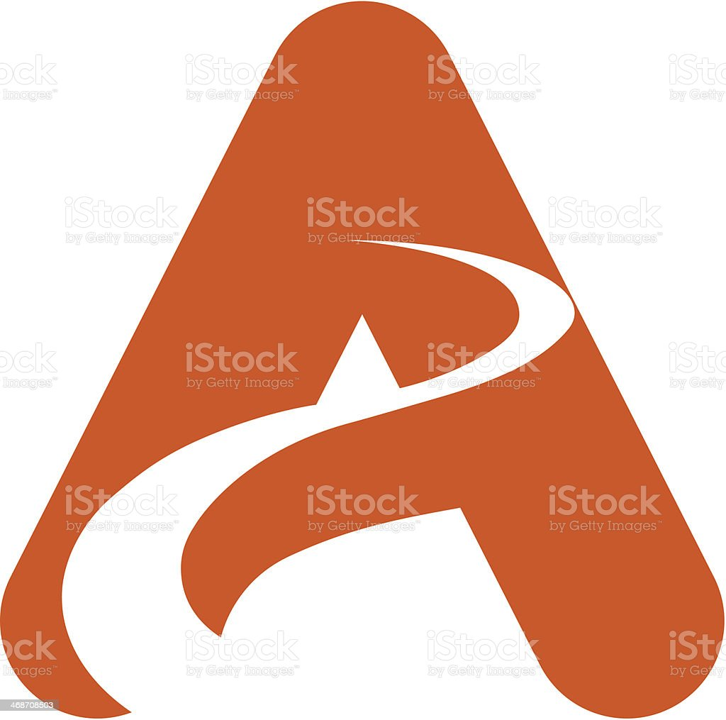 Abstract design using a capital letter A  royalty-free stock vector art