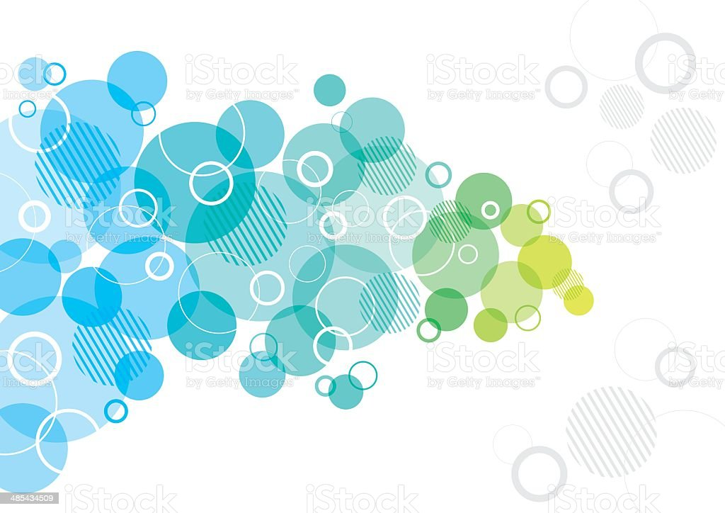 Abstract Design with Circles vector art illustration