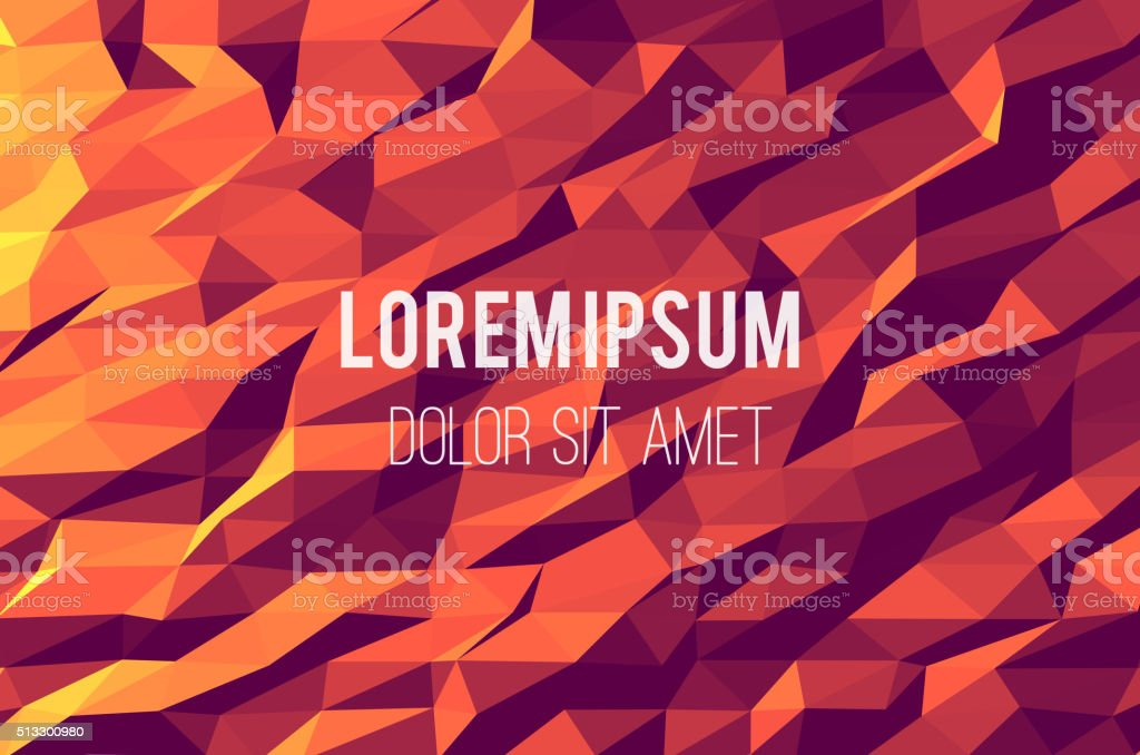 Abstract design with colorful geometric triangular background brochure, websites,  leaflet vector art illustration