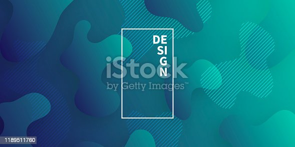 877787978istockphoto Abstract design with fluid shapes on Green gradient background 1189511760