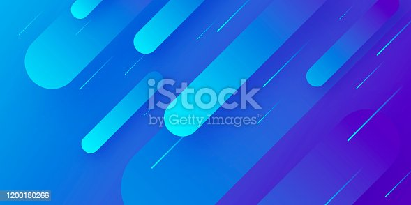Futuristic background, looking like a meteor shower. Modern and trendy abstract background with geometric shapes. This illustration can be used for your design, with space for your text (colors used: Blue, Purple). Vector Illustration (EPS10, well layered and grouped), wide format (2:1). Easy to edit, manipulate, resize or colorize.