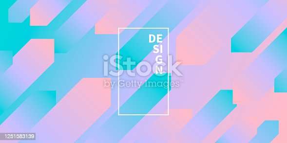 istock Abstract design with geometric shapes - Trendy Green Gradient 1251583139