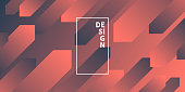 Modern and trendy abstract background with geometric shapes. This illustration can be used for your design, with space for your text (colors used: Orange, Red, Pink, Gray, Black). Vector Illustration (EPS10, well layered and grouped), wide format (2:1). Easy to edit, manipulate, resize or colorize.