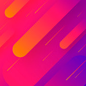 Futuristic background, looking like a meteor shower. Modern and trendy abstract background with geometric shapes. This illustration can be used for your design, with space for your text (colors used: Orange, Red, Pink, Purple, Blue). Vector Illustration (EPS10, well layered and grouped), format (1:1). Easy to edit, manipulate, resize or colorize.