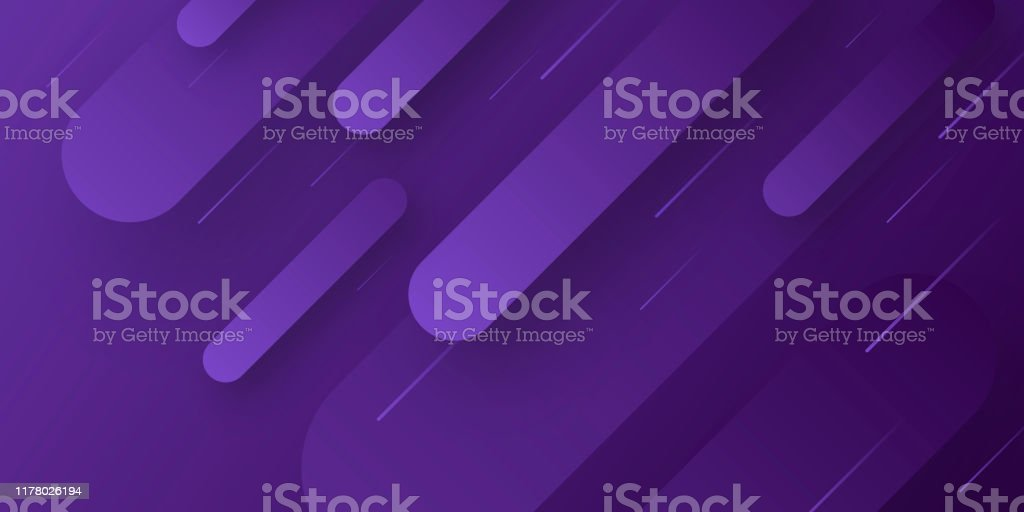Abstract design with geometric shapes - Trendy Purple Gradient - Royalty-free Abstract stock vector