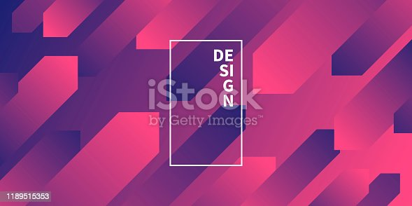 Modern and trendy abstract background with geometric shapes. This illustration can be used for your design, with space for your text (colors used: Red, Pink, Purple, Blue). Vector Illustration (EPS10, well layered and grouped), wide format (2:1). Easy to edit, manipulate, resize or colorize.