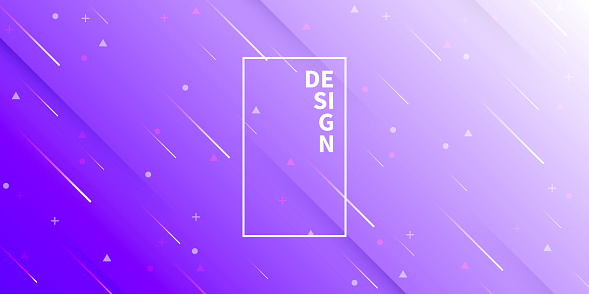 Abstract design with geometric shapes - Trendy Purple Gradient