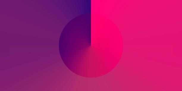 bildbanksillustrationer, clip art samt tecknat material och ikoner med abstrakt design med lila gradient färg-trendig bakgrund - pink sunrise