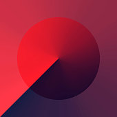 Modern and trendy abstract background with a circle in a color gradient. This illustration can be used for your design, with space for your text (colors used: Red, Pink, Purple, Blue, Black). Vector Illustration (EPS10, well layered and grouped), format (1:1). Easy to edit, manipulate, resize or colorize.