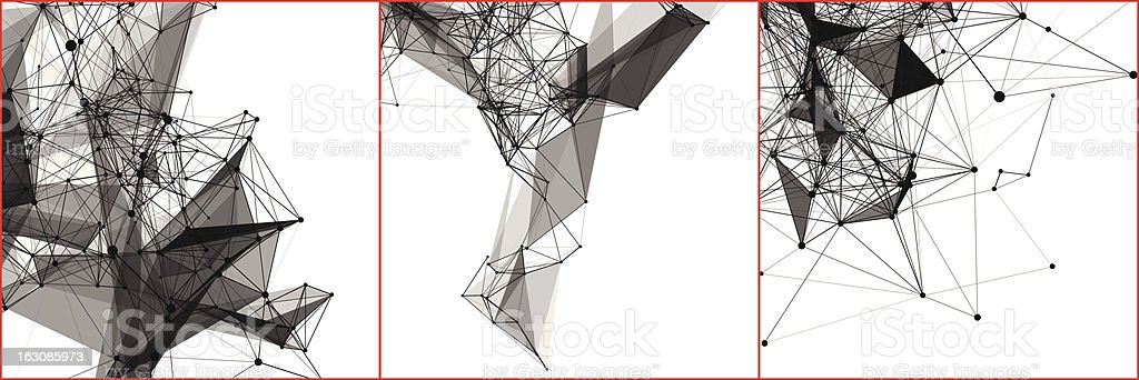 Abstract designs representing network connections royalty-free abstract designs representing network connections stock vector art & more images of abstract