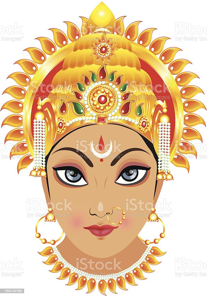 abstract detailed goddess durga face royalty-free abstract detailed goddess durga face stock vector art & more images of abstract