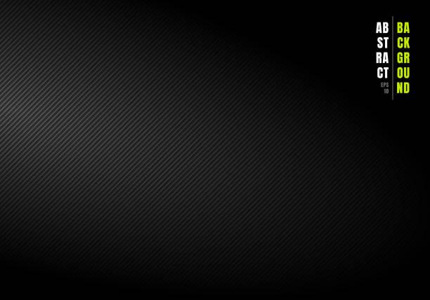 추상 대각선 줄무늬 검은 색과 회색 그라데이션 배경과 측면에서 빛 텍스처. 비즈니스에 사용할 수 있습니다. - 매끄러운 stock illustrations