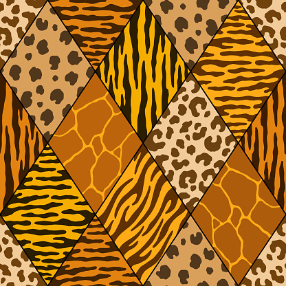 Abstract diamond animal print. Vector illustration pattern for surface, t shirt design, print, poster, icon, web, graphic designs.