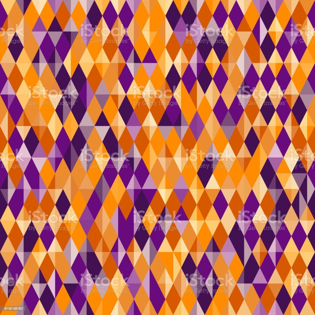 Abstract Diamond Pattern Halloween Colors stock vector art ...
