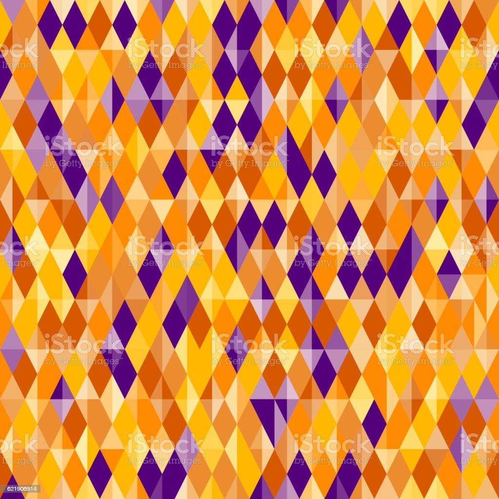 Abstract Diamond Pattern Halloween Colors Illustracion Libre de ...