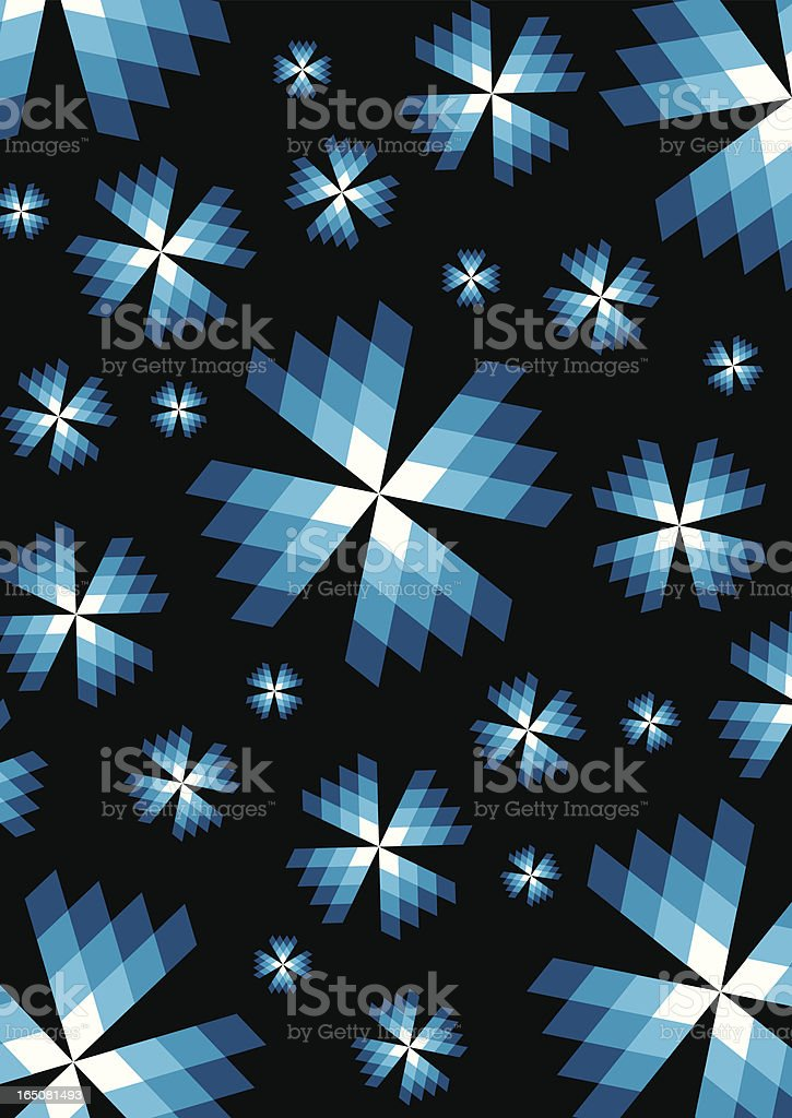 Abstract Diamond Repeat Pattern in Cool Blues royalty-free stock vector art
