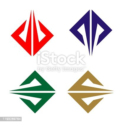 Abstract Diamond Shape Vector Template Illustration Design. Vector EPS 10.