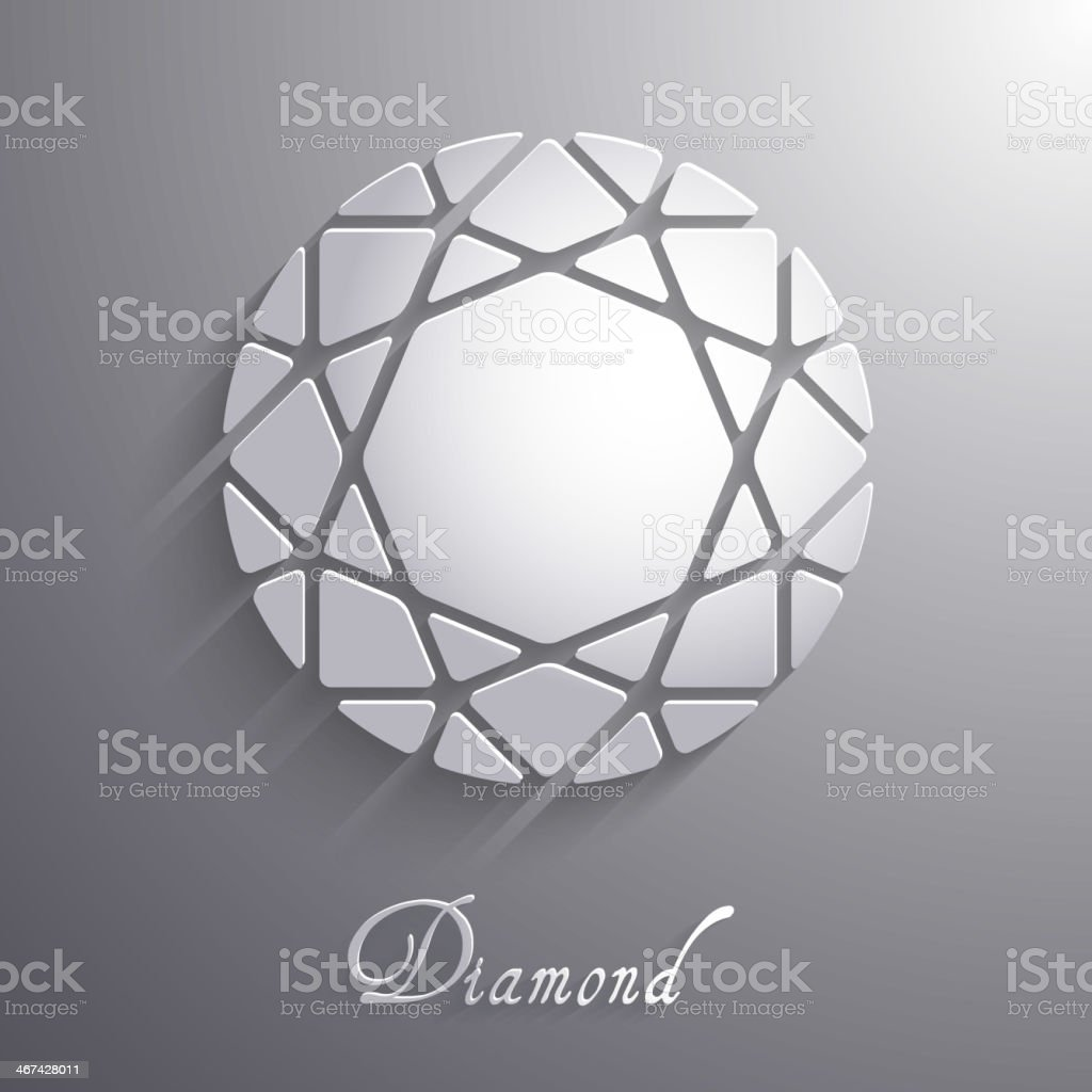 Abstract diamond shaped paper 3d icon - eps10 vector vector art illustration