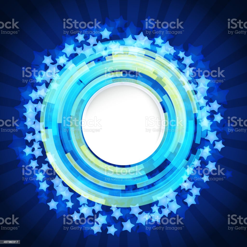Abstract digital background with a round space royalty-free stock vector art
