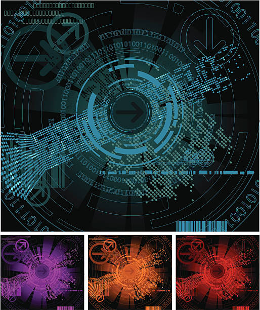 Abstract Digital Backgrounds Series vector art illustration